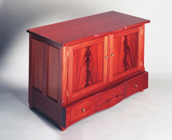 Stereo cabinet, mahogany